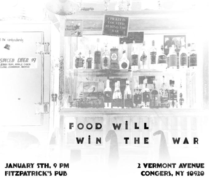 Live at Fitzpatrick's, Saturday January 5th